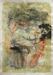 gebeugt Sitzende, zuruck blickend (Alemwa) Tags: alemwa berlin kreuzberg skezching zeichnung zeichnen sketch nude akt aktzeichnung frau woman lifedrawing zeichnennachmodell