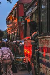 A bus conductor (Akib.the official) Tags: bus dhaka bangladesh people street life