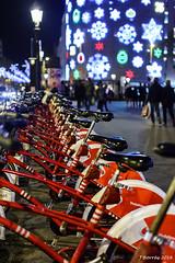 Bicicletes - Llums de Nadal 2016 - Barcelona (j.borras) Tags: christmas lights barcelona bcn night photography nikon d7200 35mm city plaça catalunya bicing