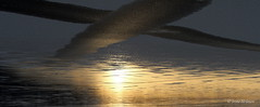 Svarte skyer (irene.holmen) Tags: upsidedown oppned skyer clouds water sj light dark lys mrke black lake cross kryss aeroplane abstract december