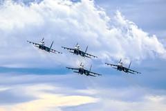 "Su-30SM ""Falcons of Russia"" (RealHokum) Tags: sukhoi su30sm airshow aircraft airplane army2016 aerobaticteam russianairforce fighter flanker falconsofrussia ef200400 kubinka"