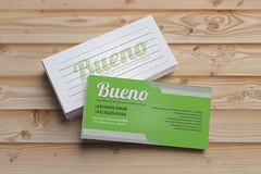 Cartão de Visita Bueno - Frente e Verso (Design Criativo - Ariany) Tags: pepoalcalá blanco estudiomarketing freepics mockups publicidad