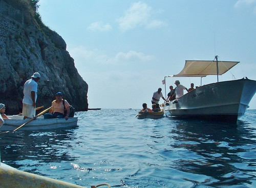 By the entrance to the Blue Grotto (Capri)