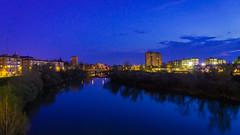 Pisuerga Nocturno (Ivan_Fle) Tags: city blue espaa rio river lights spain europe colours sony like valladolid reflejo 1855 nocturnos lightroom pisuerga emount sonynex sonynexf3