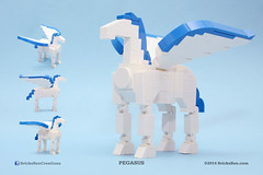 BricksBen - LEGO Pegasus Winged Flying Horse - Multiple Views (BricksBen LEGO® Creations) Tags: horse greek lego pegasus wing mythology flyinghorse wingedhorse