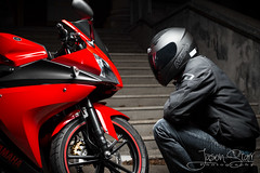 R125 - True Love (jasoncstarr) Tags: red lightpainting stairs canon flash steps motorcycles bikes sigma motorbike yamaha sportbike lams teacherscollege sportsbike armidale 2470mm lightpainted 70d r125 430exii canoneos70d sigma2470mmexdgmacrolens