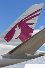 Qatar Airways - A7-BCM tail - Farnborough Airport (EGLF/FAB) (Andrew_Simpson) Tags: uk greatbritain fab plane airplane unitedkingdom aircraft tail hampshire aeroplane arabic airshow arab gb boeing fia farnborough tailfin aircrafttail doha qatar oneworld 787 qatarairways hants qatari eglf airside dreamliner 7878 farnboroughinternationalairshow farnboroughairport 787dreamliner farnboroughinternationalairport farnboroughhampshire 7878dreamliner a7bcm fia2014 fia14 farnboroughinternationalairshow2014 farnboroughairshow2014 farnborough2014 onworldalliance farnboroughinternationl farnboroughinternational2014