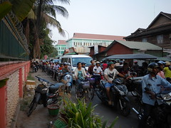 The Line (CentipedeCarpet) Tags: street four cambodia photos bikes panasonic micro siem reap unlimited thirds 14mm gx7