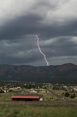 ...more Zap! (ArneKaiser) Tags: arizona sky storm weather clouds unitedstates flagstaff monsoon lightning mountelden doneypark autoimport