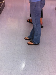 IMG_5195 (heellover91) Tags: woman sexy feet girl foot shoes toes legs sandals jeans thong flip flops