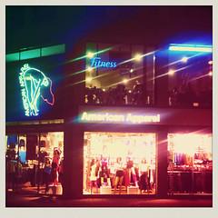 (Michael Polonski) Tags: street city light colour mobile shop licht colours streetphotography cologne köln boutique americanapparel fitness