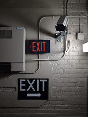 EXIT EXIT any way you want (we went right) (Ian Muttoo) Tags: usa sign mi michigan detroit gimp exit ufraw dsc89751edit