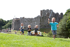 Children charging into battle at Oystermouth Castle (Enjoy Swansea) Tags: family holiday castle heritage history tourism wales children entertainment mumbles attraction activities oystermouthcastle