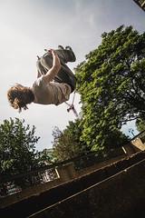 Backflip - Vauxhall (Lamarr LEMTRIX Golding) Tags: summer urban sun london canon photography jump raw streetphotography editorial freerunning walls parkour backflip 1100d