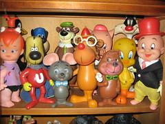 Cartoon Vinyl 2 (Donald Deveau) Tags: toys actionfigure vinyl yogi tweety flintstones underdog elmerfudd vintagetoy bananasplits daikin hannabarbera