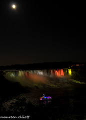 Lights On! (maureen.elliott) Tags: night lights niagarafalls colours waterfalls tourboat