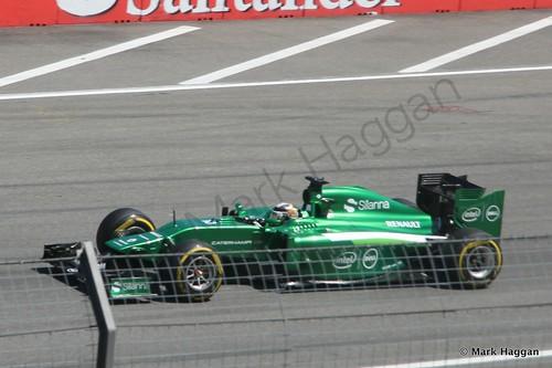 Kamui Kobayashi in his Caterham in Free Practice 2 at the 2014 German Grand Prix