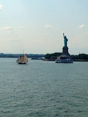 Hustle and Bustle Even on the Waters (truelafan) Tags: new york statue ferry liberty island statueofliberty staten