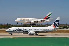 AS.B738.N585AS.2014-08-06.KLAX-B737-890.i-r (320-ROC) Tags: alaska losangeles emirates airbus a380 boeing lax 737 alaskaairlines 737800 airbusa380 losangelesinternationalairport boeing737800 boeing737 klax losangelesairport 737890 boeing737890 airbusa380861 n585as a380861 a6eew
