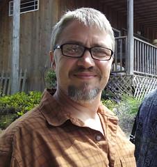 Mr. Lyle (Homini:)) Tags: family smile festival beard glasses lavender handsome sequim visiting lavenderfestival