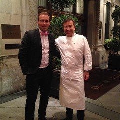 Me and Daniel Boulud, The restaurant owner and chef with 3 Michelin Stars for his restaurant Daniel!