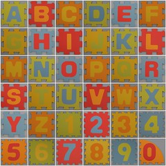 Foam Play Mat smooth alphabet (Leo Reynolds) Tags: fdsflickrtoys photomosaic alphabet alphanumeric letterset 0sec abcdefghijklmnopqrstuvwxyz0123456789 hpexif groupfd mosaicalphanumeric xleol30x xxx2014xxx