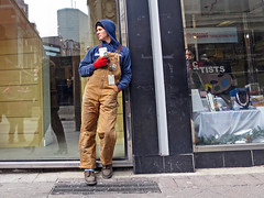 BostonBrownOveralls (fotosqrrl) Tags: urban boston massachusetts streetphotography overalls worker downtowncrossing washingtonstreet