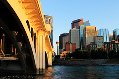 Calgary Centre street bridge (Schewczyk Photography) Tags: street bridge calgary tower skyline centre bowriver
