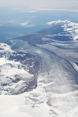 Vatnajkull (Icelandand Europe'slargest glacier) and Breiamerkurjkull outlet glacier (sssdc1) Tags: travel ice window airplane iceland flight lagoon glacier cave select jkulsrln vatnajkull breiamerkurjkull