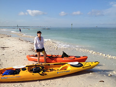 Ready to Launch from Honeymoon Island (cell911) Tags: people beach gulfofmexico florida dana places kayaking dunedin clearwater tarpon140 honeymoonislandstatepark caladesiislandstatepark tarpon100 otherkeywords wildnernesssystems