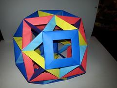 Open Frame Truncated Octahedron (Origami Tatsujin 折り紙) Tags: polyhedra modularorigami tomokofuse openframeunit