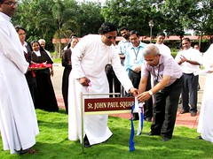 "AISAT Engineering College, Kerala - July 3, 2014 - Rev.Fr.Alex Kurishuparambil, Associate Manager AISAT, Unveiled the name board – ""St. John Paul Square"". • <a style=""font-size:0.8em;"" href=""http://www.flickr.com/photos/98005749@N06/14846822014/"" target=""_blank"">View on Flickr</a>"