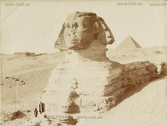 Egypte 1880 Le Sphinx (kdayes) Tags: