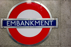 Embankment (christopher_brown) Tags: uk greatbritain england london train underground unitedkingdom britain trains transportation londonunderground embankment