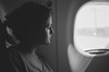 Heimweh (Andreas.Jank) Tags: bw white black window analog 35mm nikon fenster xp2 f3 frau flugzeug weiss rom ilford schwarz airplain homesickness heimweh