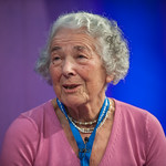 Judith Kerr on stage at the Edinburgh International Book Festival
