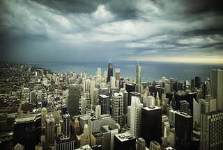 Stormy Skies Over Chicago