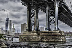Under the Manhattan Bridge - EXPLORE (David F. Panno) Tags: newyork brooklyn dumbo manhattanbridge ef50mmf12lusm canoneos5dmarkiii