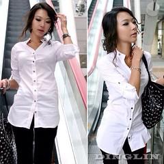 ว้าว! เสื้อเชิ้ตทำงาน แฟชั่นเกาหลีใหม่สวยอินเทรนด์ นำเข้า ไซส์L/XL สีขาว พร้อมส่งMI506 ราคา 970 บาท เสื้อเชิ้ต แบบใหม่เสื้อเชิ้ตแฟชั่นเกาหลีแขนยาวสวย เสื้อคอปกแบบเชิ้ตเก๋แนวเลดี้น่ารักแบบเชิ้ตตัวยาวสวยใส่สบาย สำหรับสาวเซ็กซี่ จะใส่เป็น เสื้อผ้าชุดทำงาน สว