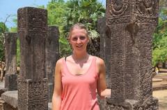 Suzanne in Polonnaruwa