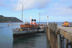 Waverley departing Lundy Island (Dartmoor Mike) Tags: bristol island ship paddle devon steamship steamer lundy channel waverley