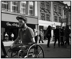Affliction and Isolation (exreuterman) Tags: street male raw wheelchair young essex southend affliction pity sympathy paraplegic pathos disability southendonsea