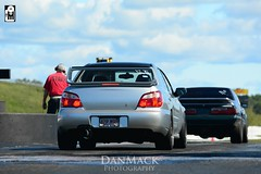 The moment of truth, well not really. (Dstretch33) Tags: new england 2004 silver clean subaru simple wrx sti jdm psm enkei dragway masstuning