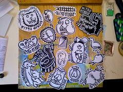 NITRO ATAQUE STICKERS (GARCCIA) Tags: music dog sexy bird ass rock sex illustration cat tooth fun penis pig duck sticker boobies heart sãopaulo dick pussy cock sexo porn bitch topless funk rap garcia rocknroll música coc youtube dogstyle nitroataque