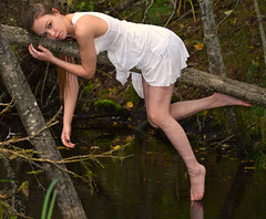 Maiden in the Marsh (Luv Duck - Thanks for 15M Views!) Tags: cute pretty rebecca young hazeleyes marsh earthquakepark girlinwhite alaskagirls