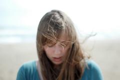 DSC_2134_ (plastic_tack) Tags: red sea portrait selfportrait brick green girl face hair seaside pretty wind weekend windy fabrick nikond80