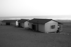 Strange Places (ferdak) Tags: africa bw house town desert shed sigma desolate namibia skeletoncoast terracebay dp2m