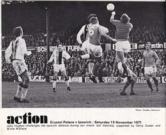Crystal Palace vs Chelsea - 1971 - Page 14 (The Sky Strikers) Tags: crystal palace chelsea match action john hughes ipswich town big 1971 1970s players yogie gerry queen willie wallace 13 november seventies 70s cpfc itfc croydon advertiser photograph