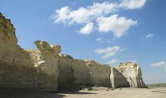 Monument Rocks of Kansas #31 (jimsawthat) Tags: sky rural day erosion kansas geology highplains monumentrocks chalkpyramids pwpartlycloudy