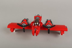 red_dove3 (Pigbrick the Pig Lover) Tags: plane lego moc skyfi